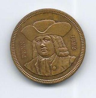 1882 William Penn Medal photo