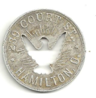 Oh.  Hamilton 1920 ' S Ham 20 Frank Maguire Cut - Out Eagle Alum 36mm The Oxford photo