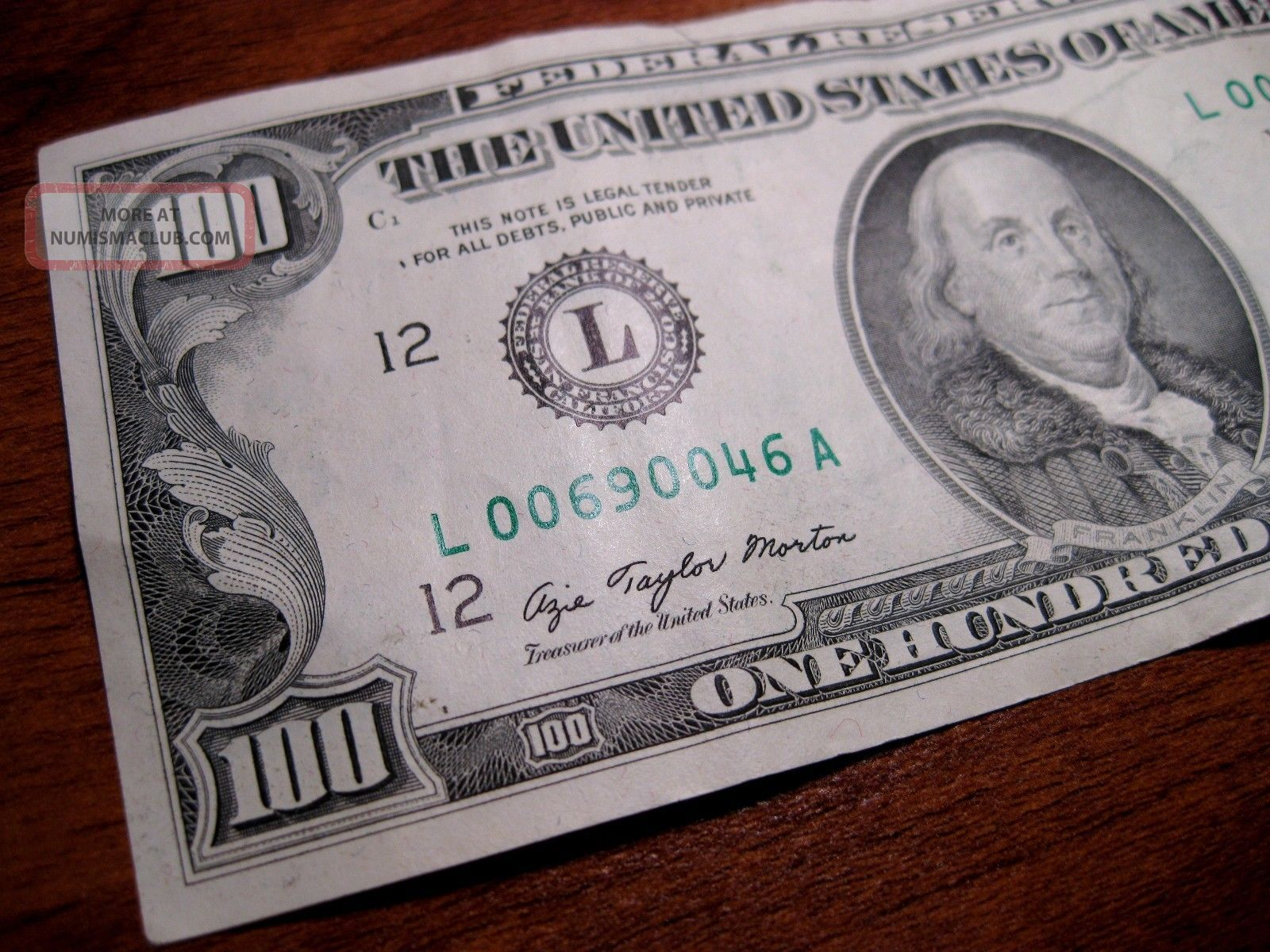 1977 100 Dollar Bill - San Francisco