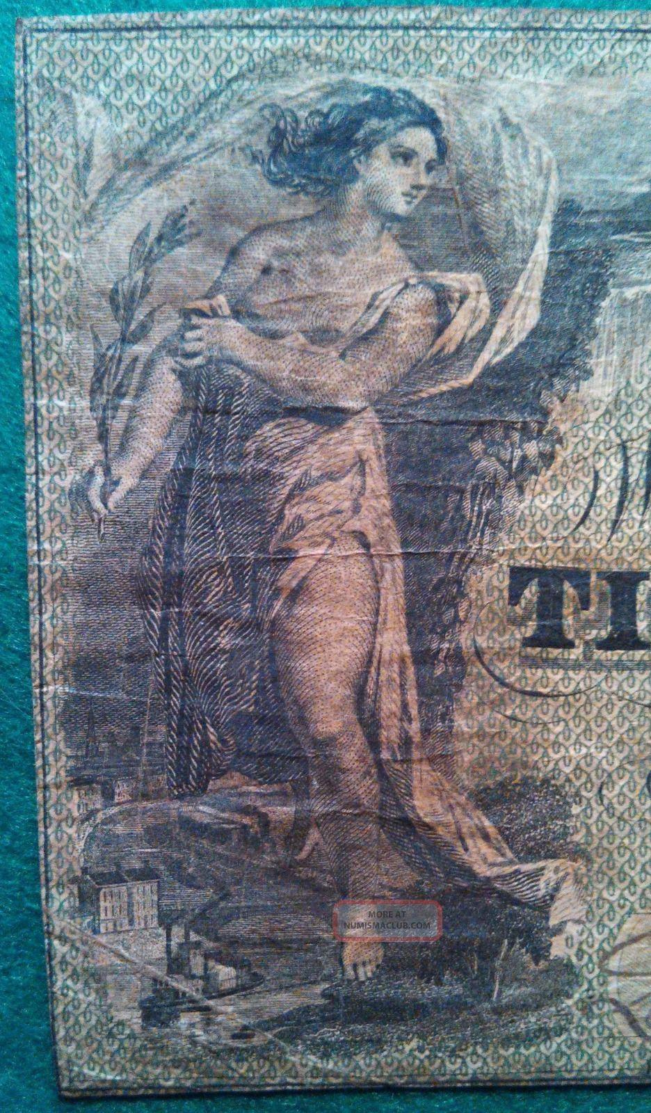 1861 Timber Cutter ' S Bank Five - Dollar Note - Savannah, Ga
