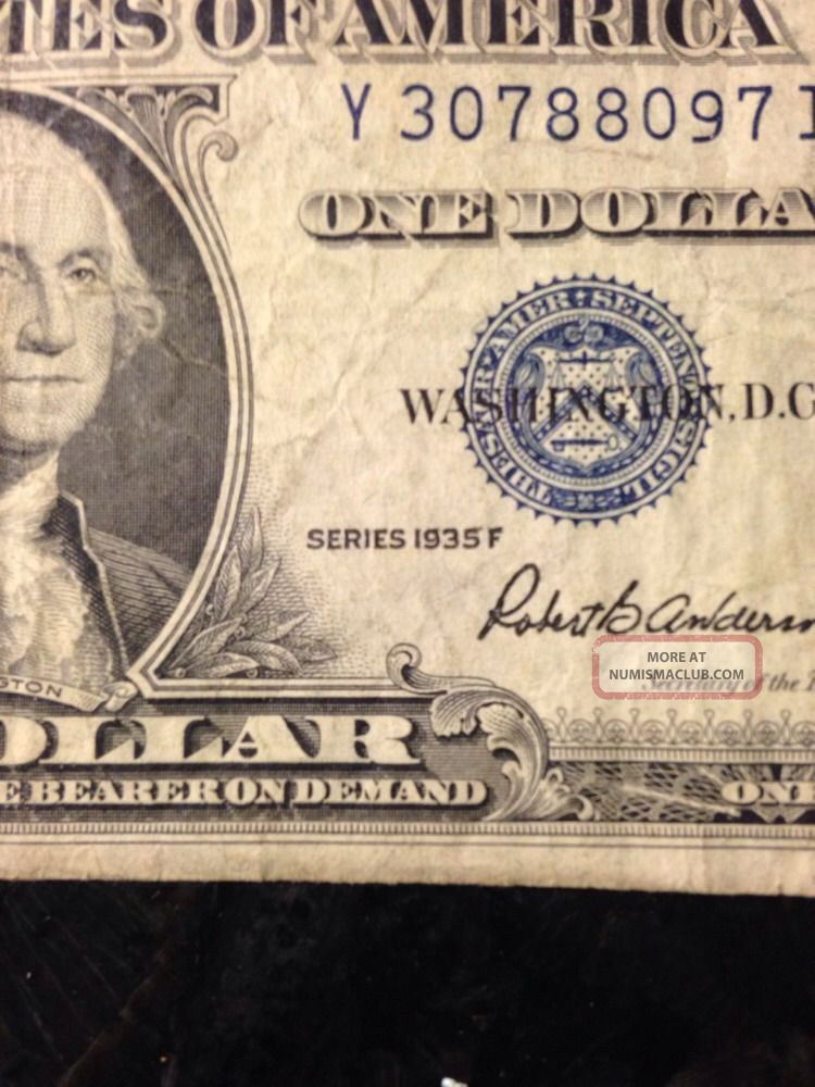 1935 D Silver Certificate Dollar
