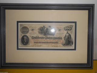 Conferderate Currency $100 Dollar photo