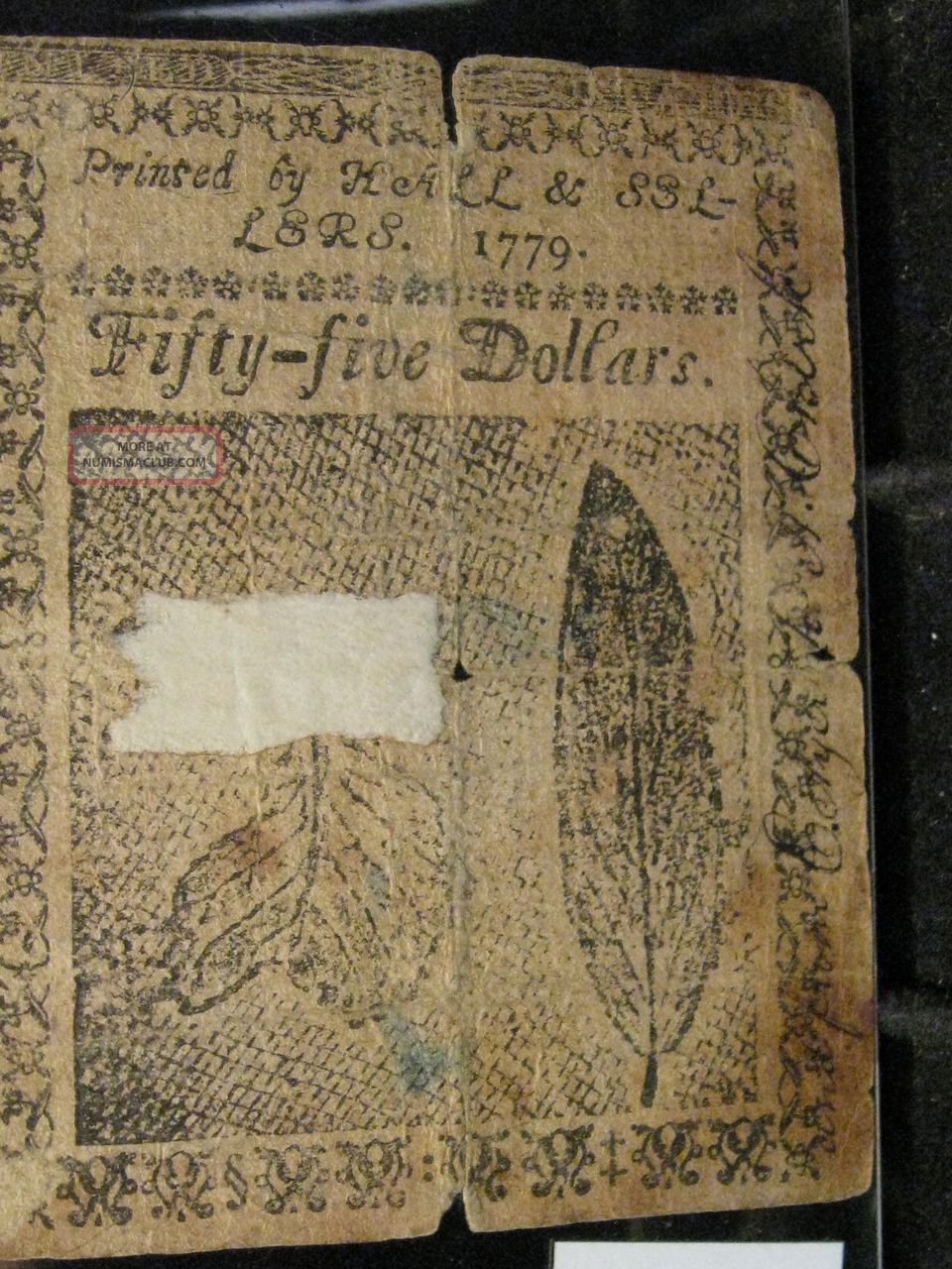 1779,  January 14 - Continental Us Colonial Note.  $55 Dollars.  Hall & Sellers Paper Money: US photo