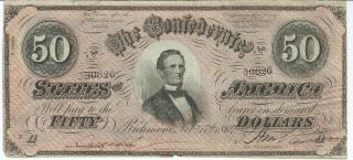 Genuine! Choice Crisp XF Old US 1864 $30 US Confederate States of America