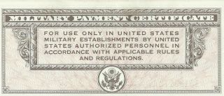 Series 461 $10 Dollar Military Payment Certificate Mpc Note 442achoice Au photo