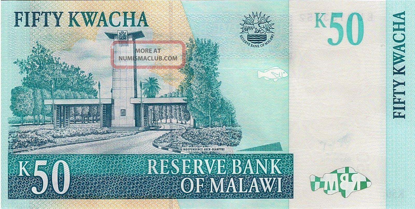 Malawi Paper Money 50 Kwacha 2011 UNC