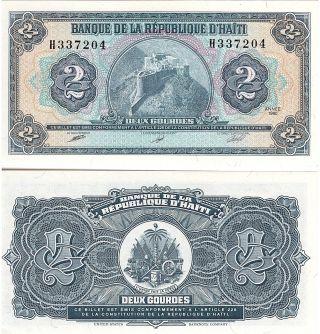 HAITI 2 GOURDES 1992 P 254 UNC