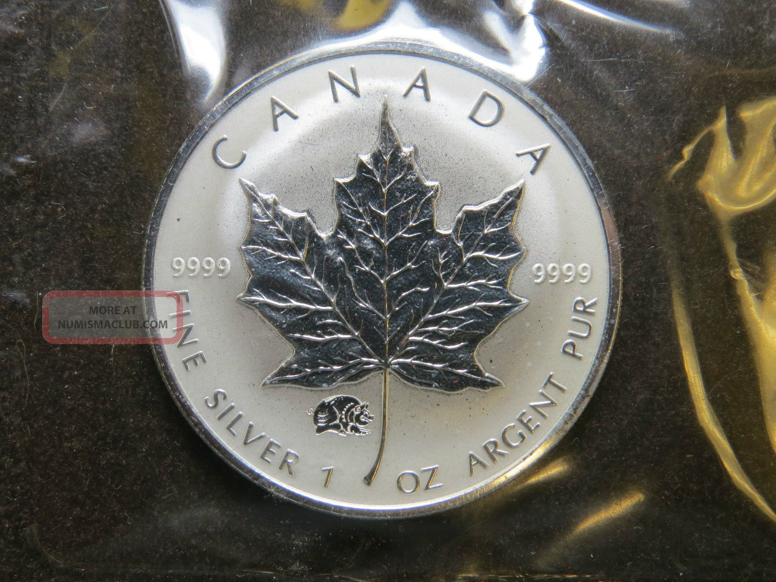 2000 1 Oz Silver Maple Leaf Privy Mark Coin Year Of The