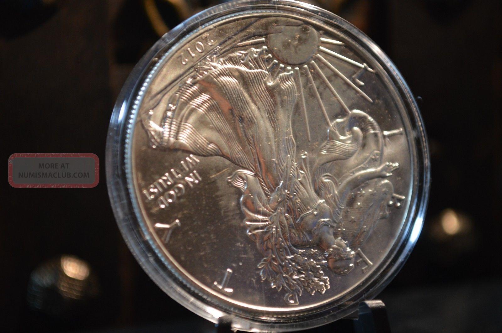 2012 Silver American Eagle 1 Oz Bu 999 Fine Silver Coin 1