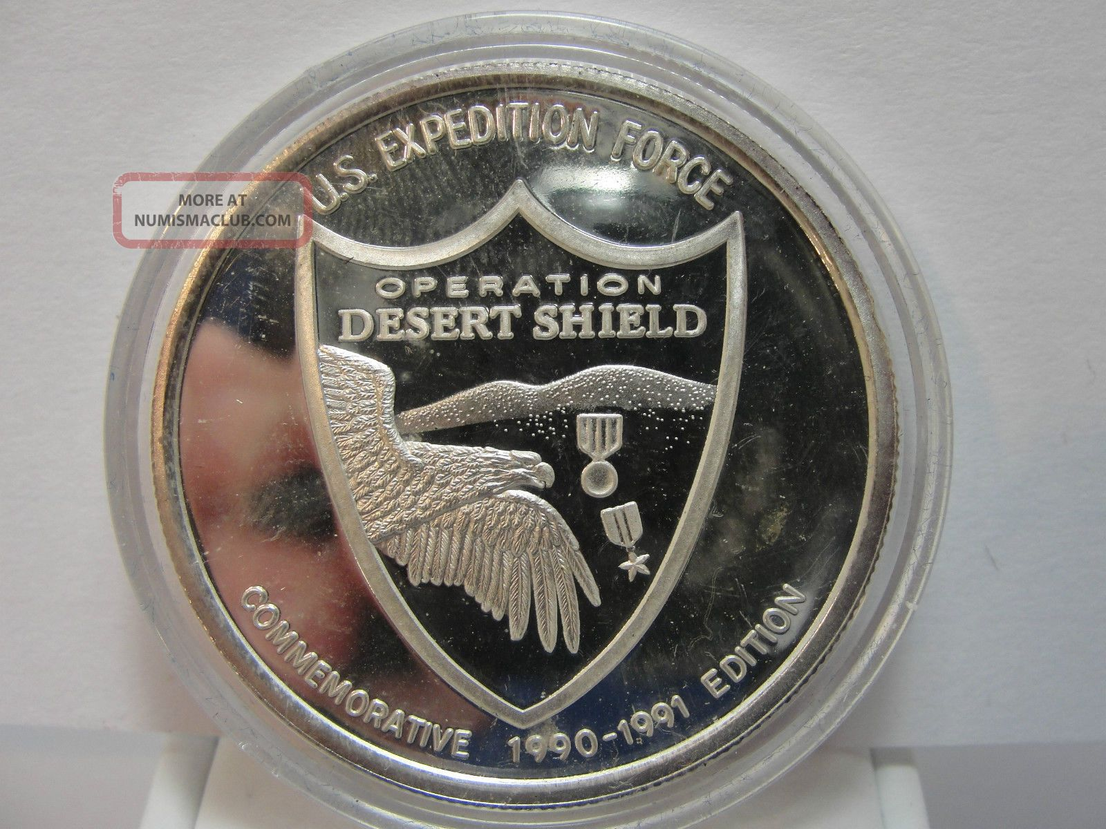1990 91 Us Operation Desert Shield 1 Oz 999 Fine Silver