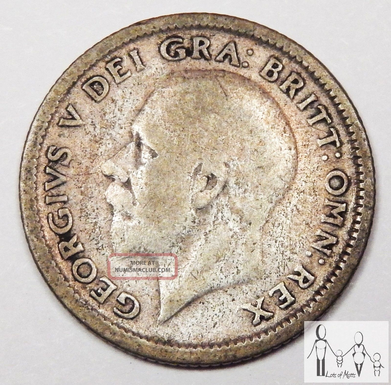 1926 Great Britain Good 6 Six Pence 50% Silver.  0455 Asw B84 UK (Great Britain) photo