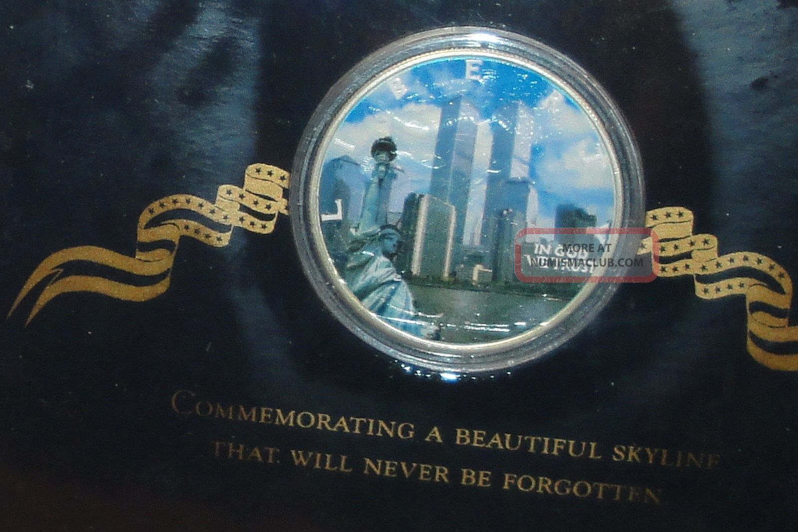 2001 Solid Silver Remembrance Dollar Commemorating 9 11