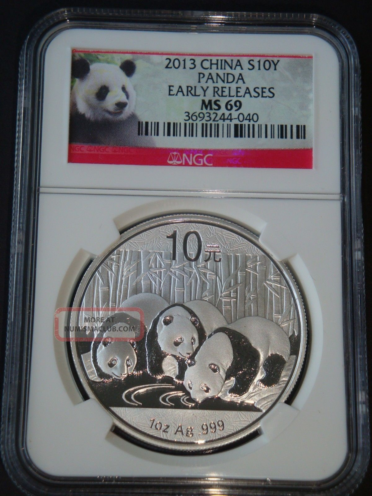 2013 1 Oz Chinese Panda Ngc Ms69 Early Releases Pure