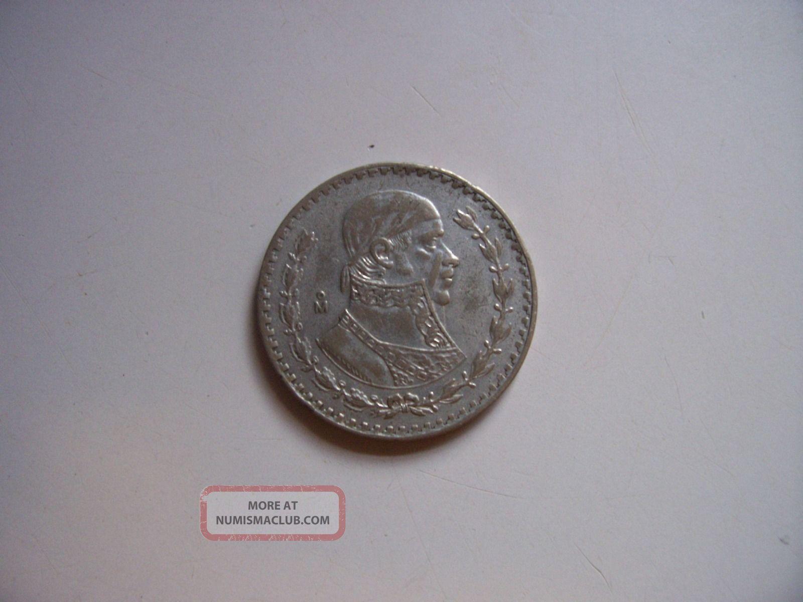 1959 Silver Peso Xf Silver photo