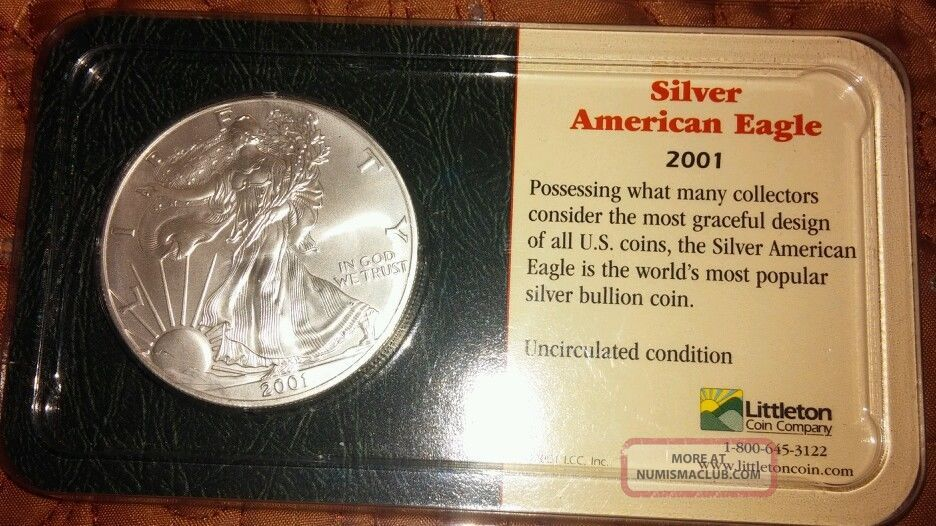 2001 Silver American Eagle Dollar Littleton