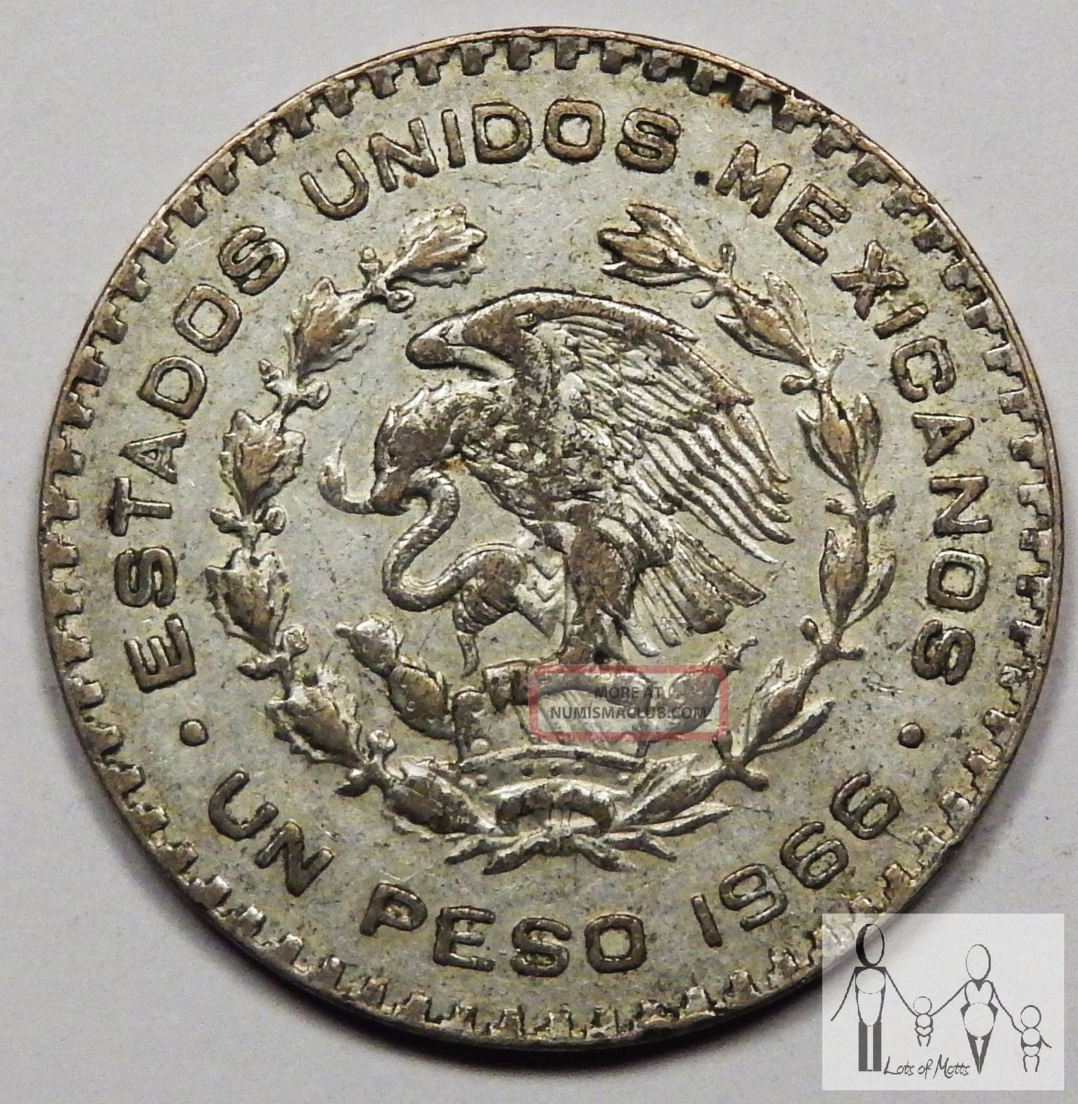 1966 un peso coin