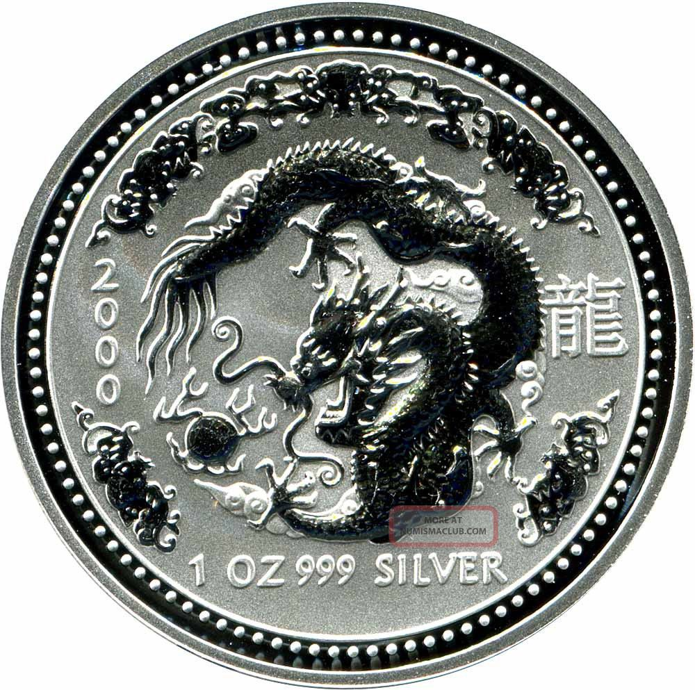 2000 Year Of The Dragon Lunar Series 1 Australian 1 Oz