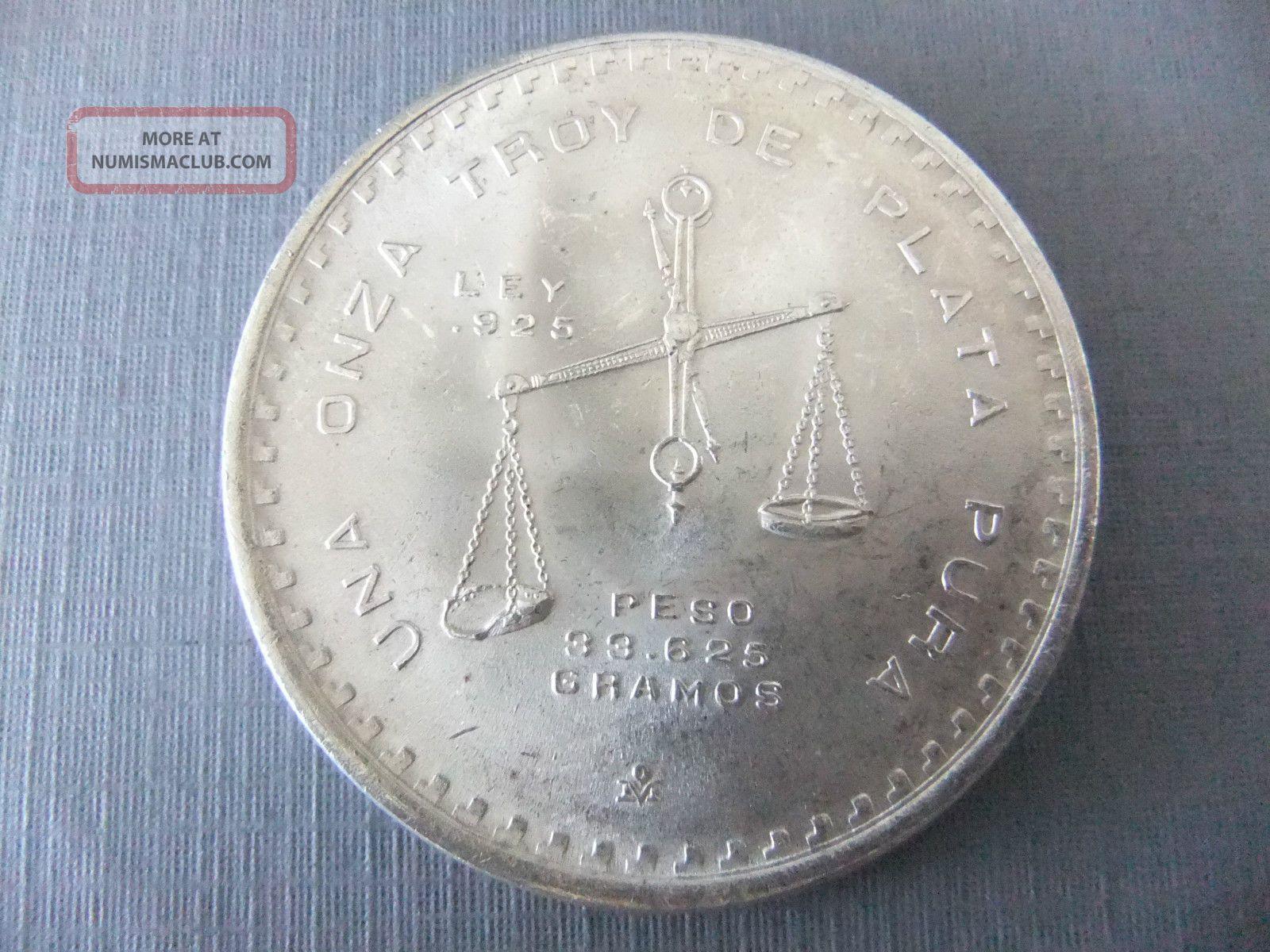 1980 Casa De Moneda De Mexico Una Onza Troy De Plata Pura 33 625 Silver Bullion
