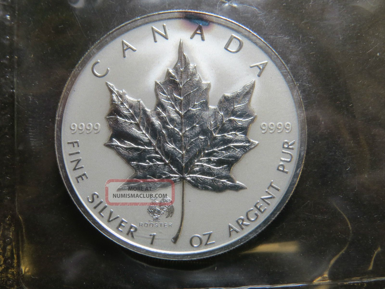 2005 1 Oz Silver Maple Leaf Privy Mark Coin Year Of The