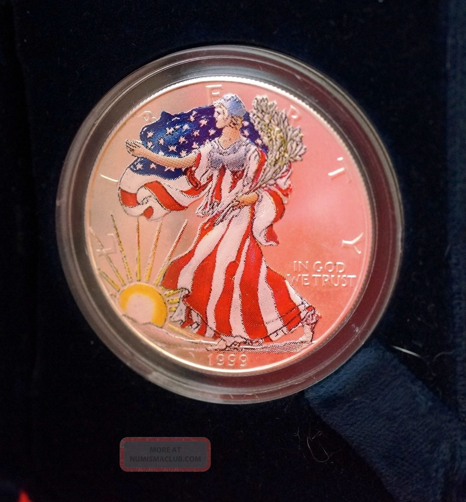 1999 American Eagle Lady Liberty Full Color 999 Proof