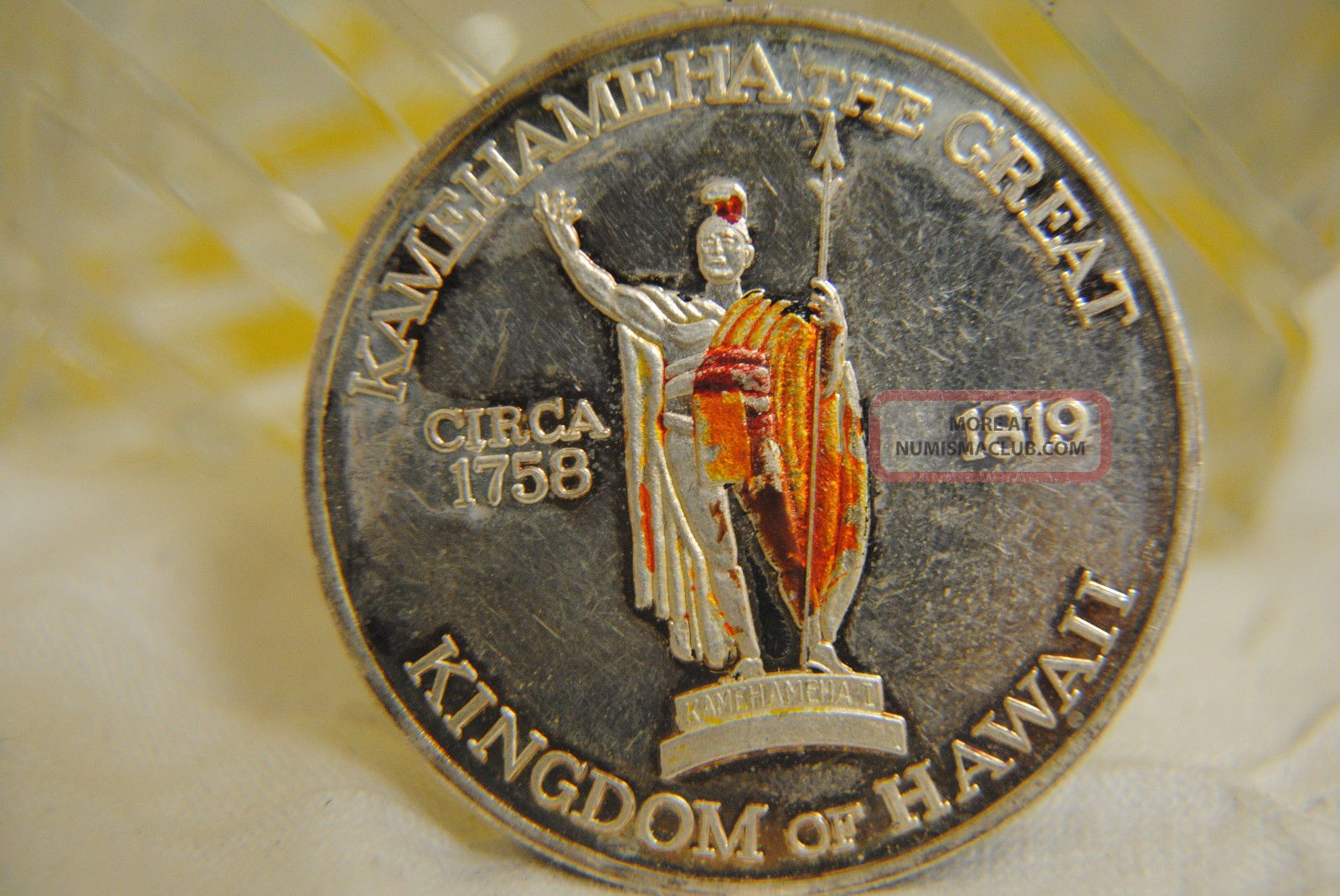 1oz Troy 999 Fine Silver Kingdom Of Hawaii Kamehameha The