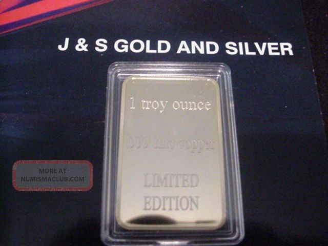 Crown Type.  999 Fine Copper Art Bar / 24k Gold X Rated 1 Troy Oz.  J&s Silver photo