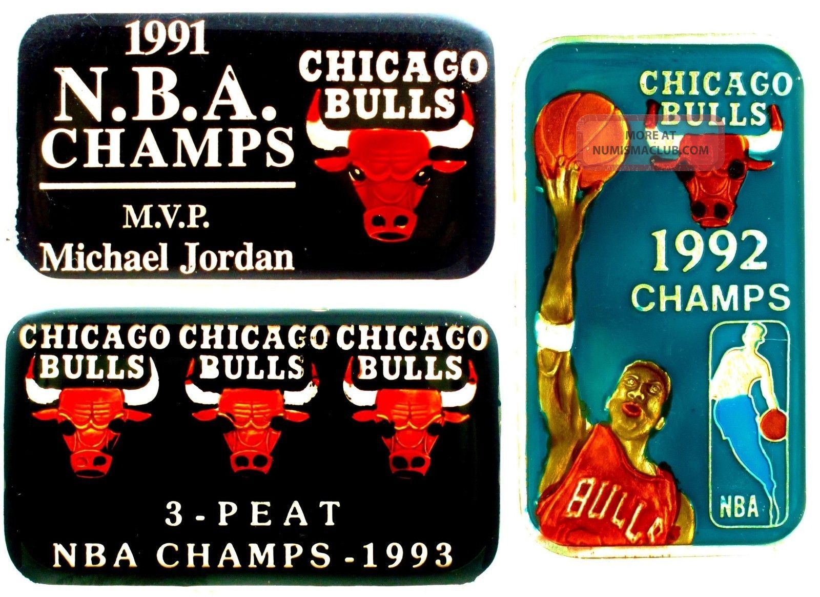 91 92 93 Nba 3 Peat Champ Chicago Bulls Michael Jordan