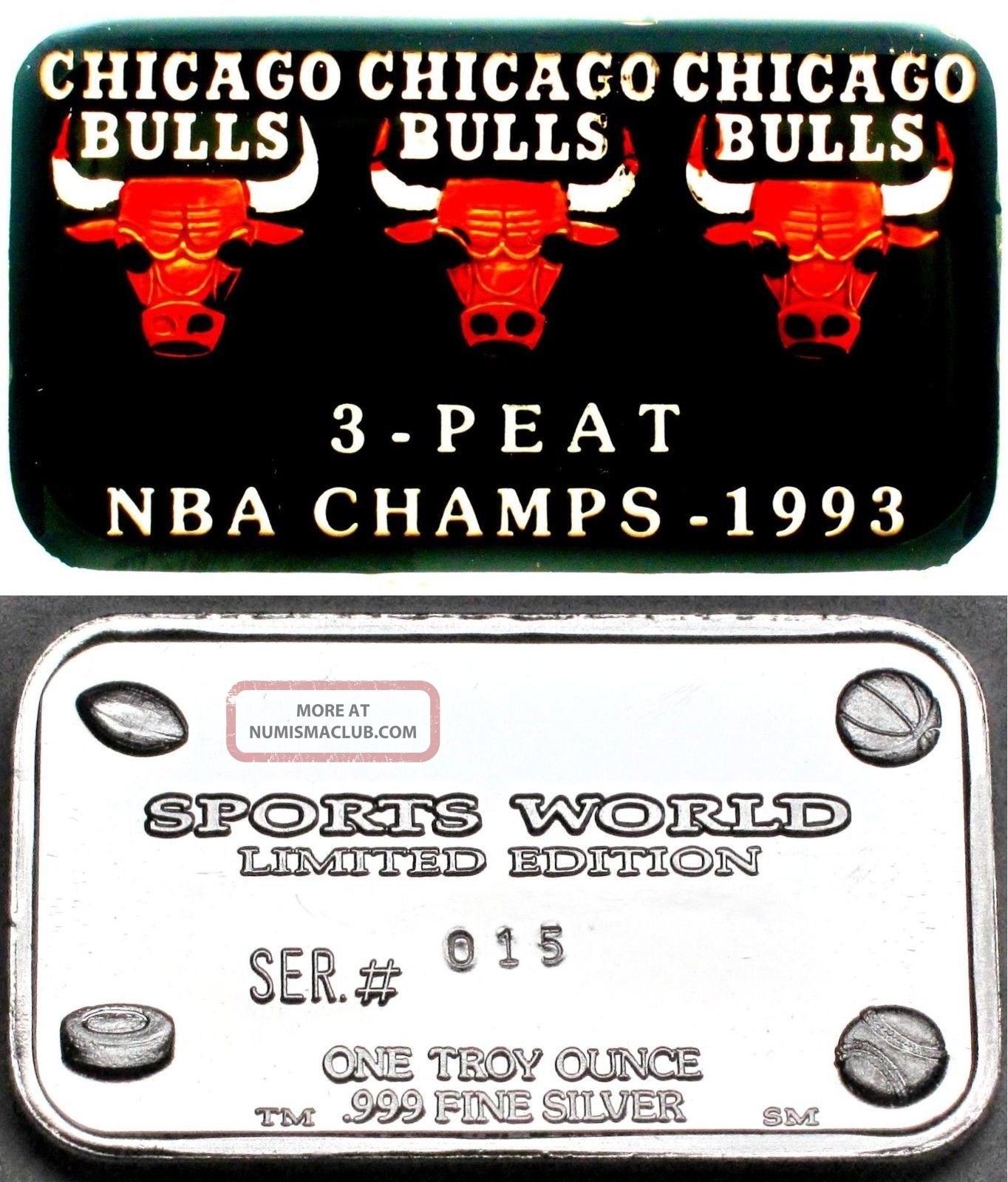 91 92 93 Nba 3 Peat Champ Chicago Bulls Michael Jordan