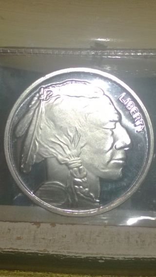 1 Troy Oz 999 Pure Silver Indian Buffalo Bar