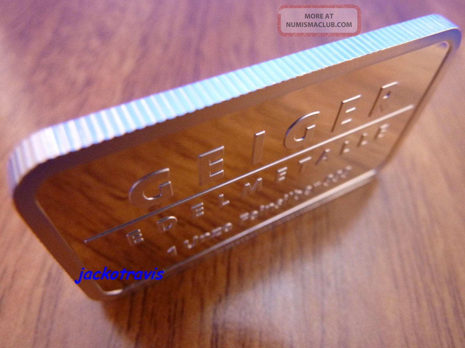 German Geiger 1 Oz Silver Bullion Bar Castle Guldengossa