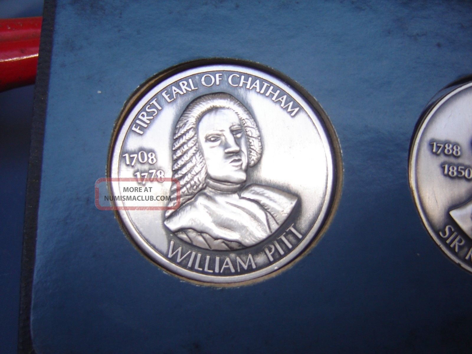 5 1969 First Earl Of Chatham William Pitt 5 Oz 999 Fine
