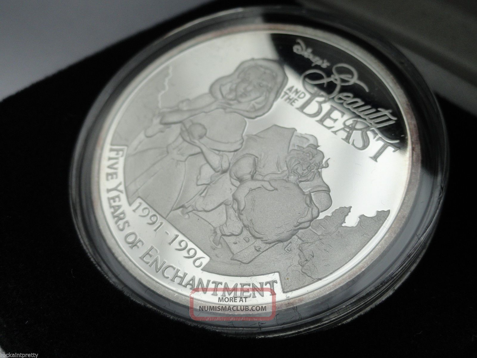 Beauty And The Beast Walt Disney 1 Oz Proof Like 999