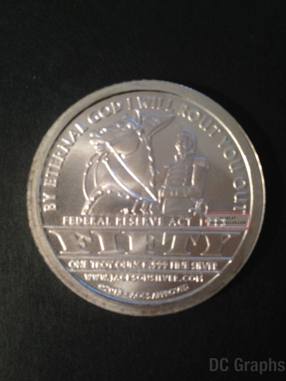 Andrew Jackson Aocs Silver Coin 1 Oz 999 Silver Bu