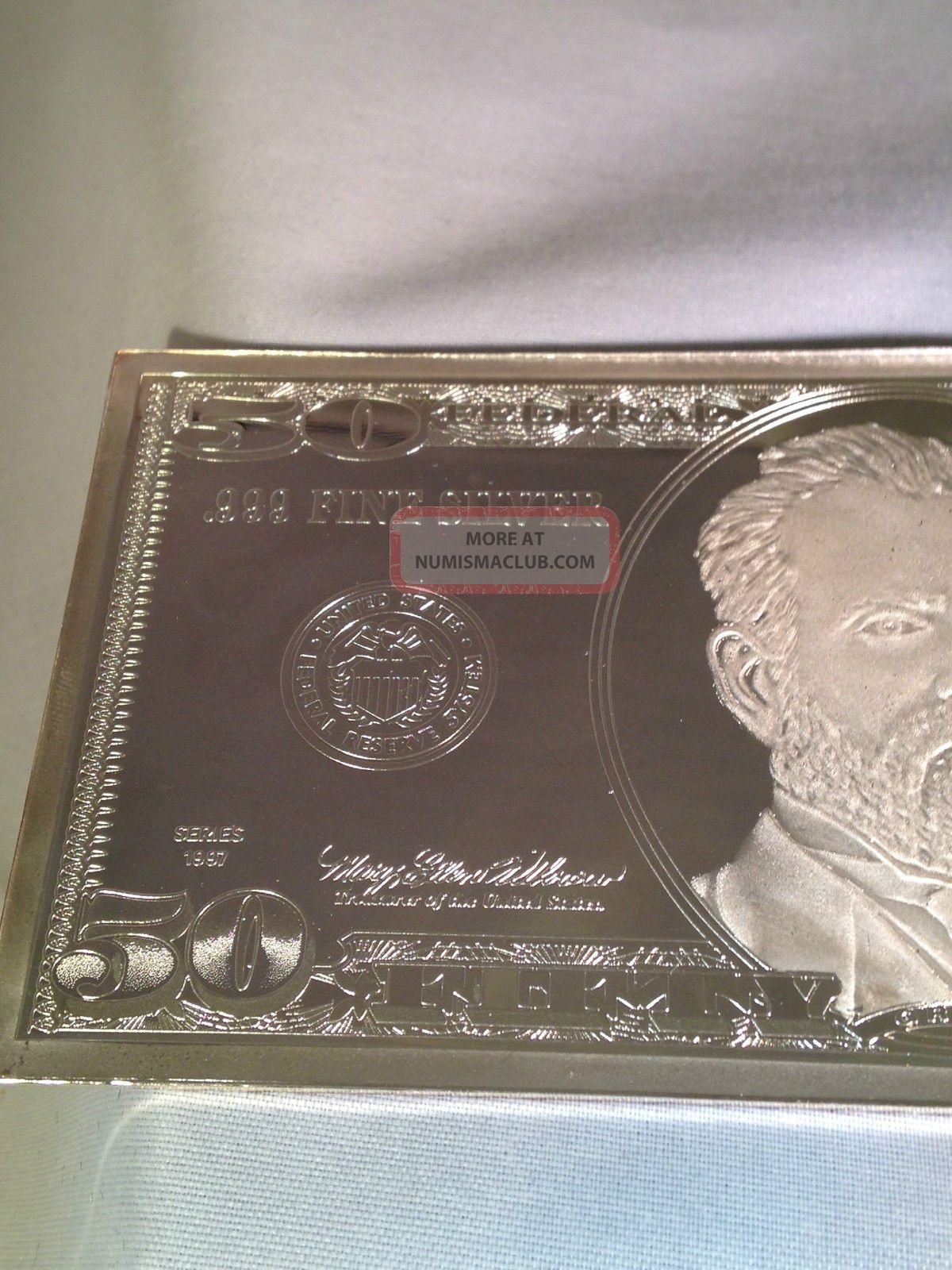 1997 50 Silver Proof 4 Troy Oz 999 Fine Silver