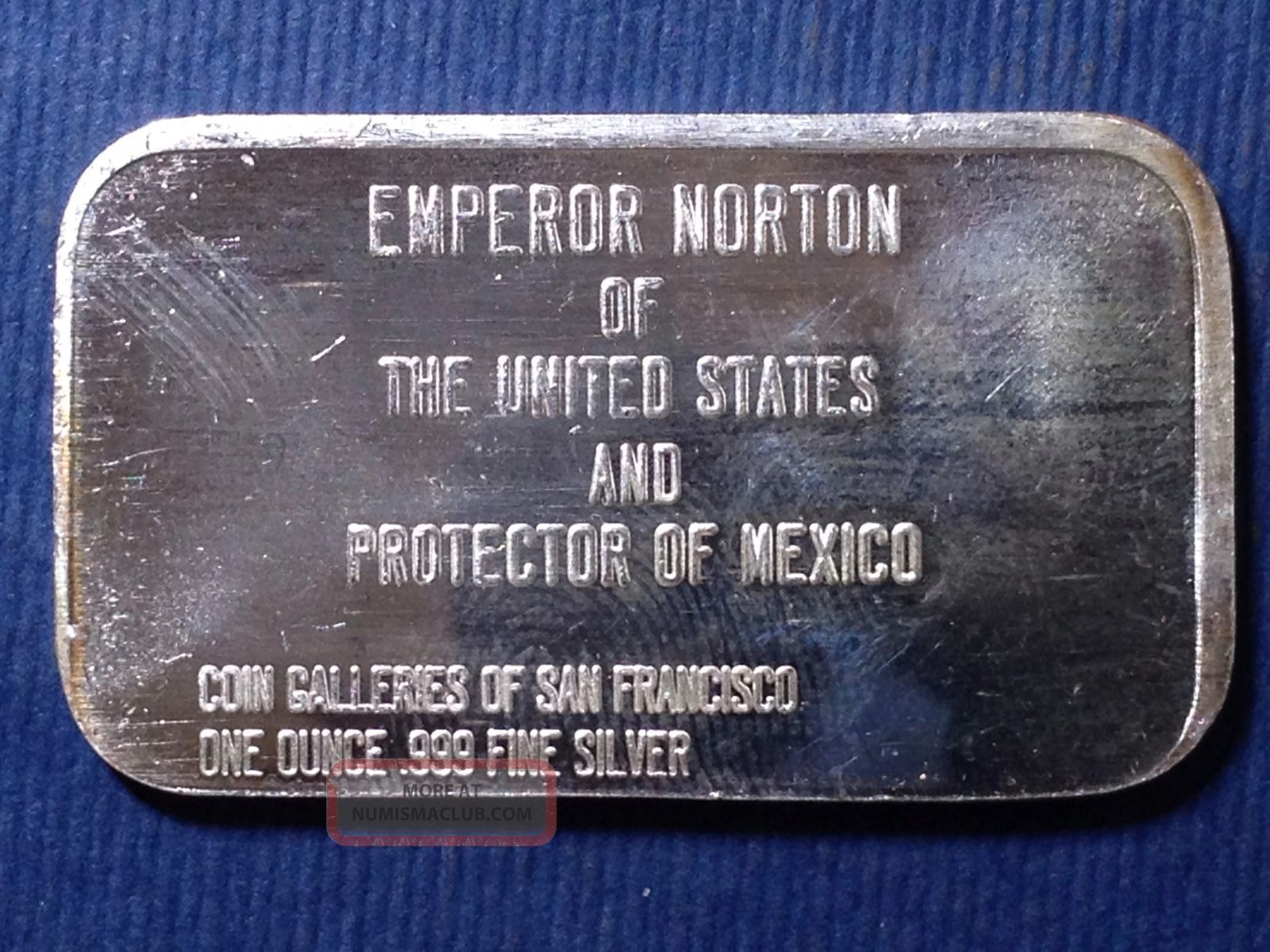 Cgsf Emperor Norton San Francisco 1 Troy Oz 999 Fine