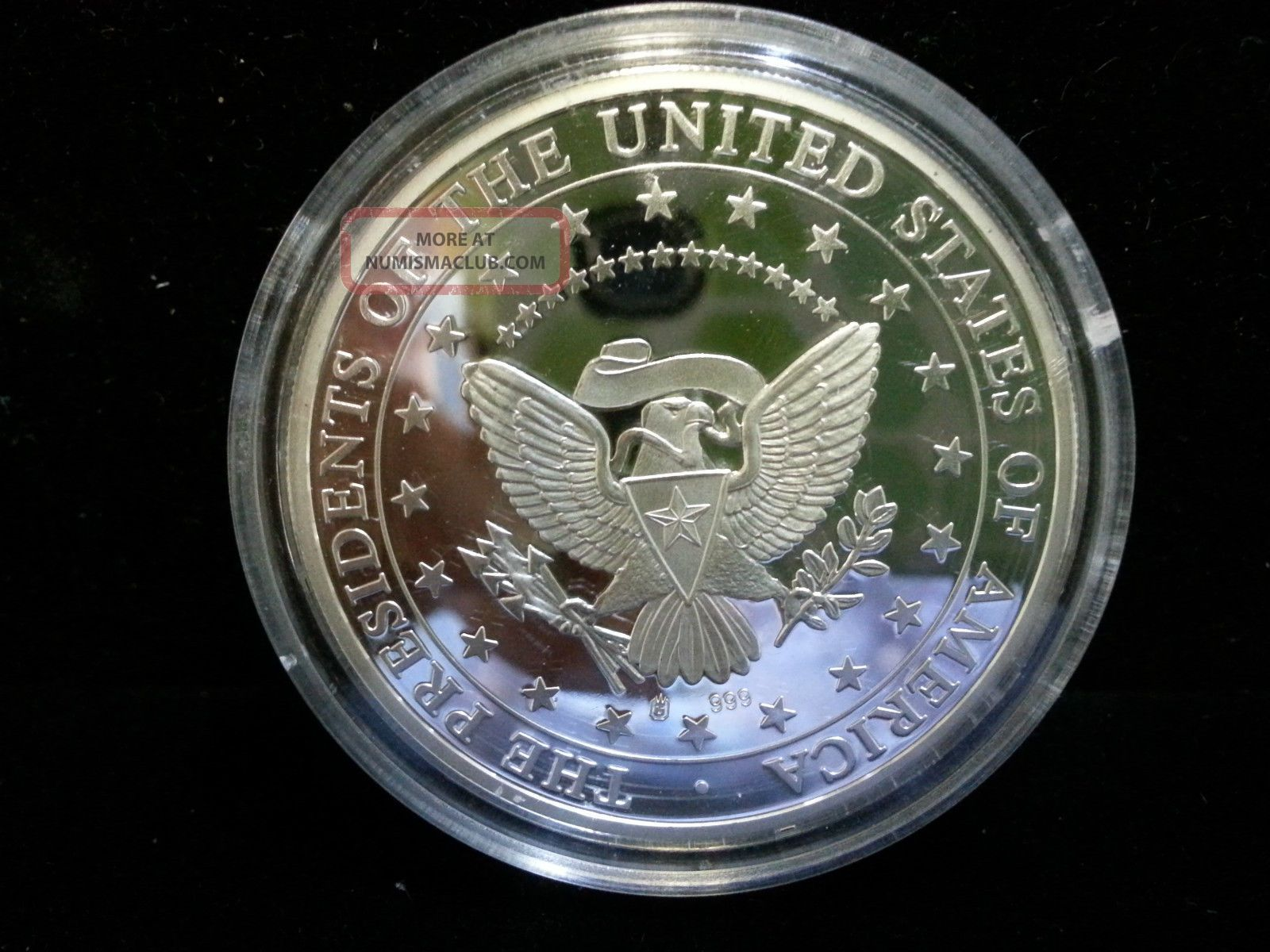 Dwight D Eisenhower 34th President 999 Silver Coin Round