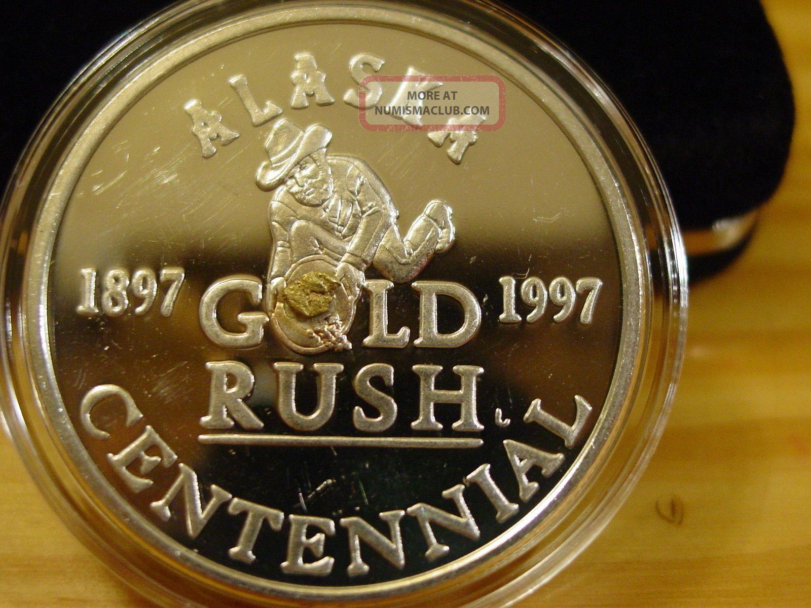 Alaska 1997 Centennial Gold Panner Medallion 999 Silver
