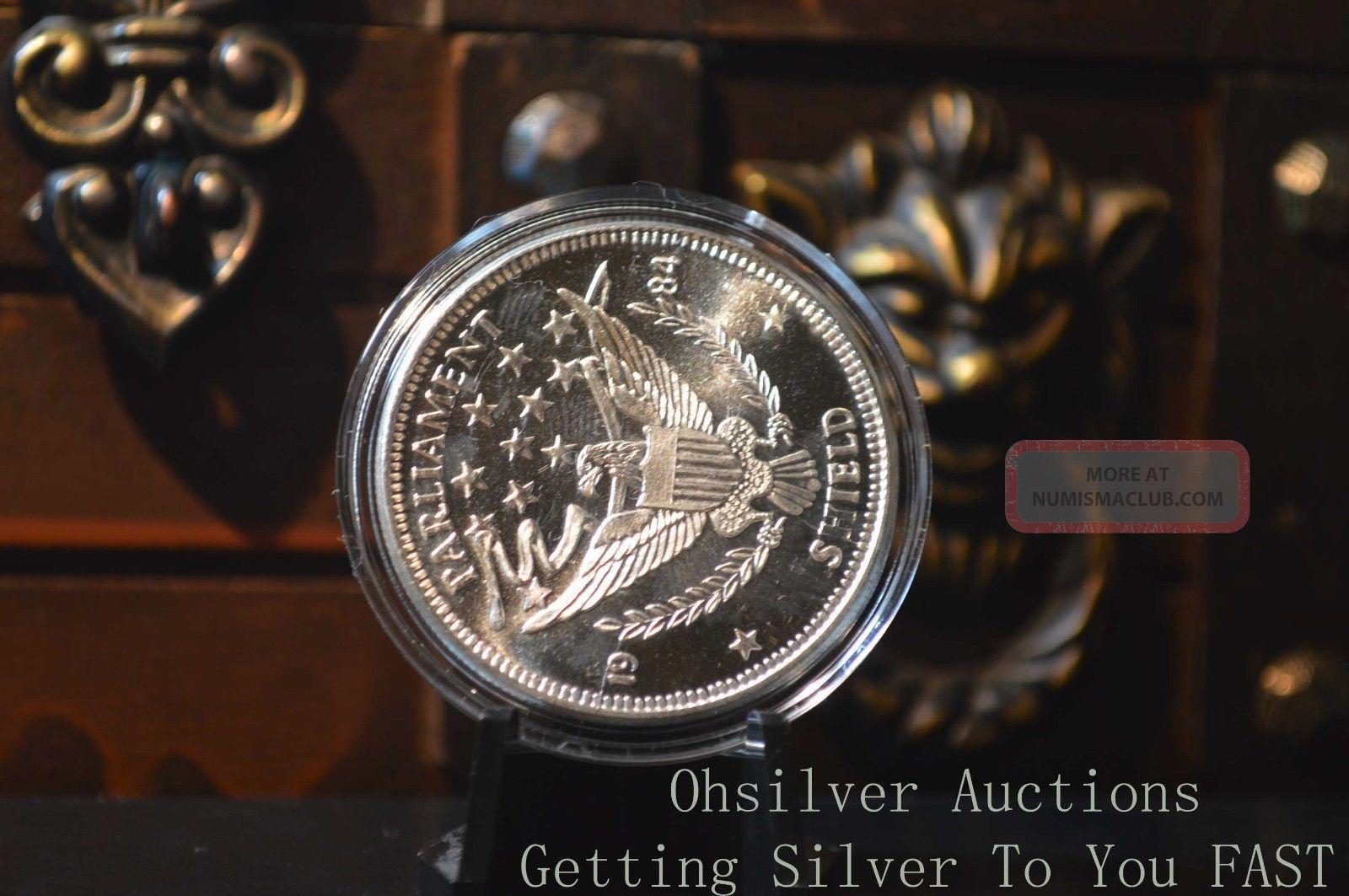 1 Oz Silver Round 1984 Parliament Shield 999 Pure Silver