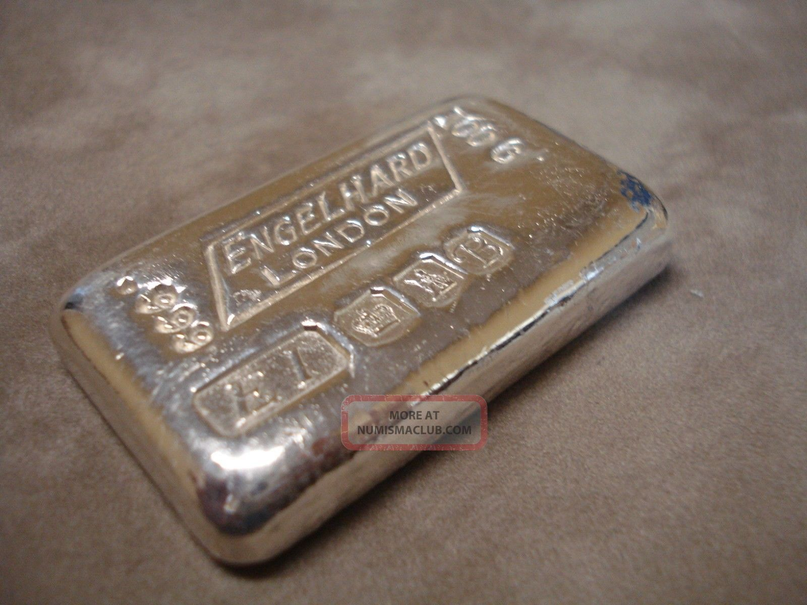 100g Grams Engelhard London Quot B Quot Old Style Poured 999