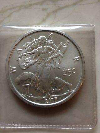 1 Oz German Silver Buffalo Bar Value