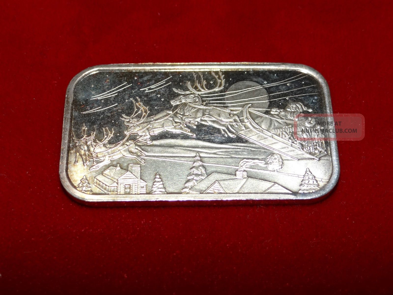 1 Troy Ounce 999 Fine Silver Bar Ingot Christmas 2001
