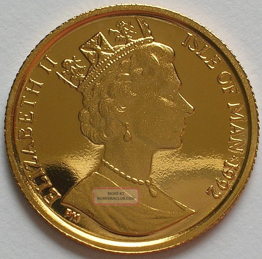 1993 Isle Of Man Elizabeth Ii Gold Proof 1 20 Angel Coin Fdc Low Mintage