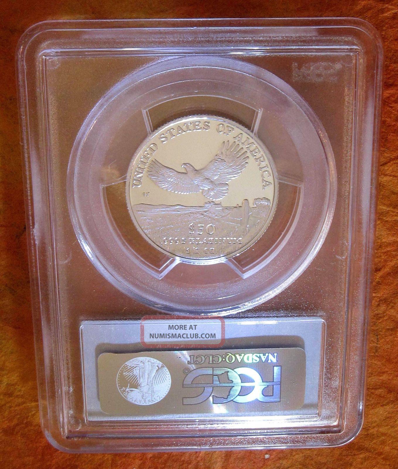 $50 2000 - W Pcgs Pr70 Platinum Proof American Eagle - Pop Only 269 / Pgv = $1,  350 Platinum photo