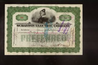 The Scranton Electric Company Pa Dd 1923 Issued To John Mcguire photo
