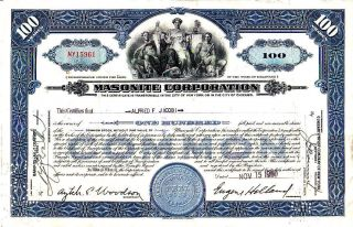 Masonite Corporation 1950 Stock Certificate photo