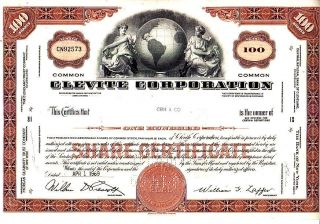 Clevite Corporation Oh 1969 Stock Certificate photo