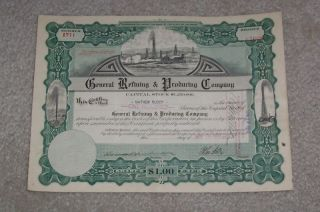 General Refining And Producing Stock Certificate 1917 photo