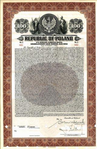 1937 - Republic Of Poland Stabilization Loan photo