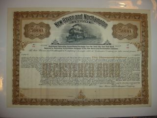 Haven & Northampton Company Bond Stock Certificate Railroad photo