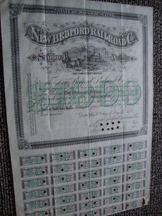 Bedford Ma Railroad Stock Certificate,  Bedford,  Ma photo